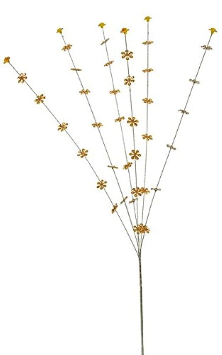 Renaissance 2000 Glitter Flower Stick Orange