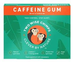 Caffeine Gum - 9 Pieces by Two Wise Chimps. Price is for a Pack of 3