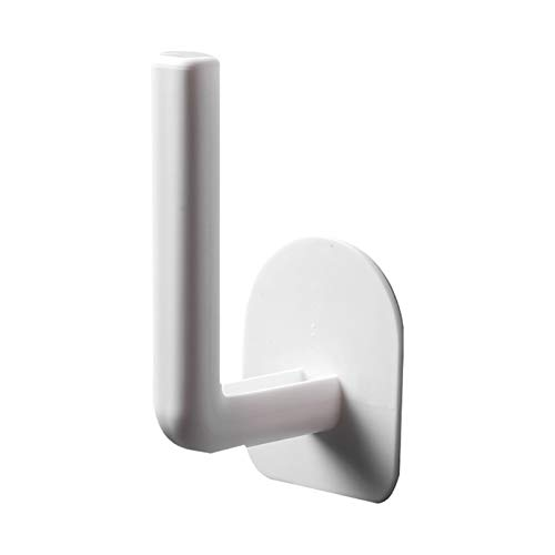QXLG Toallero 1 UNIDS Cocina DE Cocina Toalla de Papel Accesorios autoadhesivos con Rodillo de gabinete Rack Pedido de Tejido Percha de Almacenamiento para baño Aseo Práctico y fácil de Usar.