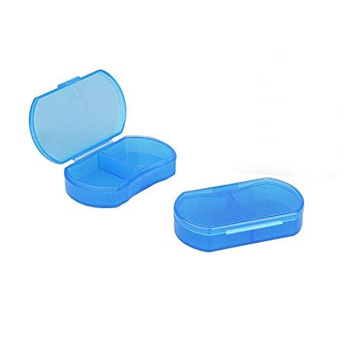 Pastillero pequeño, recipientes diarios, dos compartimentos para día y noche, ideal para medicamentos, vitaminas, suplementos, perfecto para viajes, ideal para bolso