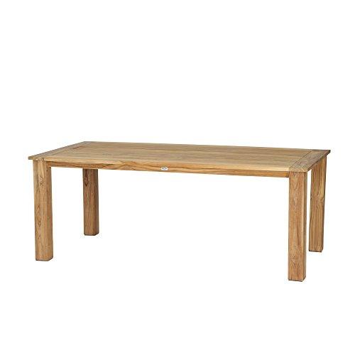 Siena Garden Dining Tisch Almada, 200x100x74cm, Gestell: Teakholz, in natur, Tischplatte: Teakholz, FSC 100%