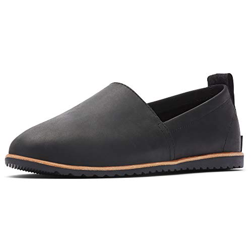 Sorel - Women's Ella Slip-On, Leather or Suede Shoe, Black, 6.5 M US
