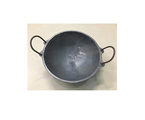 Siva Naturals Cast Iron Kadai (1.2kg, 7-inch, Black)