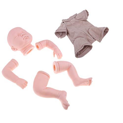 CUTICATE Blank 22 Zoll Reborn Kits Kopf 3/4 Arme Volle Beine Form \u0026 Stoff Körper Mit Festen Band Set, Große DIY Handarbeit, 100% Sicher
