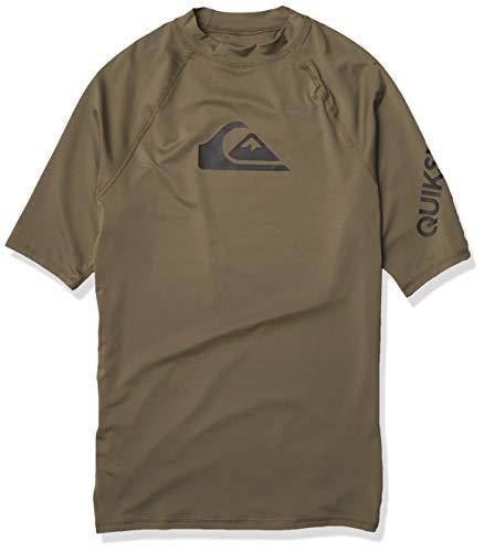 Quiksilver Herren All TIME Short Sleeve Rashguard UPF 50+ Rash Guard Hemd, Kalamata, Medium