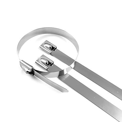 10 Stück Kabelbinder Edelstahl 520 x 7,9 mm Metallkabelbinder Stahlband Allgäuershop