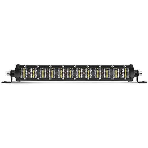 Phare de Travail Led 38.5 cm / 14 pouce Barre LED Projecteur Spot Led Phare Antibrouillard étanche IP68 12V 24V pour Tracteur Voiture Camion SUV ATV Bateau - BraveWAY (9620A-14inch-38cm)