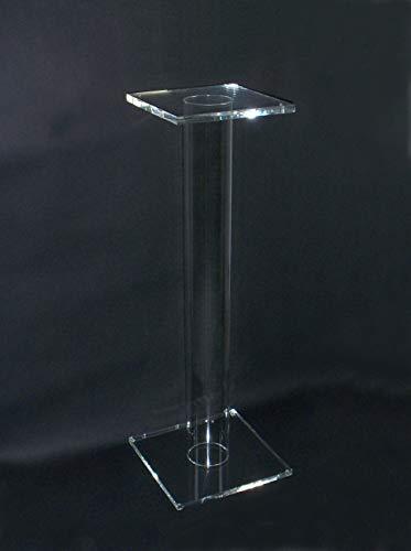 Cavinato acrylics Piedistallo - tavolino - espositore in plexiglass Trasparente. Cm. 30x30xH. 100