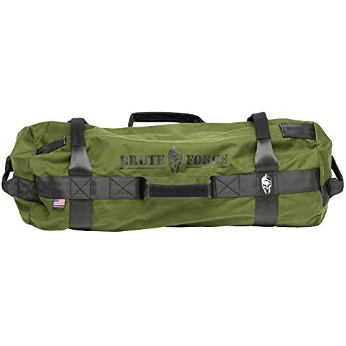 Brute Force Sandbags - Athlete Sandbag - Army Green - Athletic Elite XL Sandbag Training Workout Bag Heavy Duty Sandbag Physical Therapy Sandbag