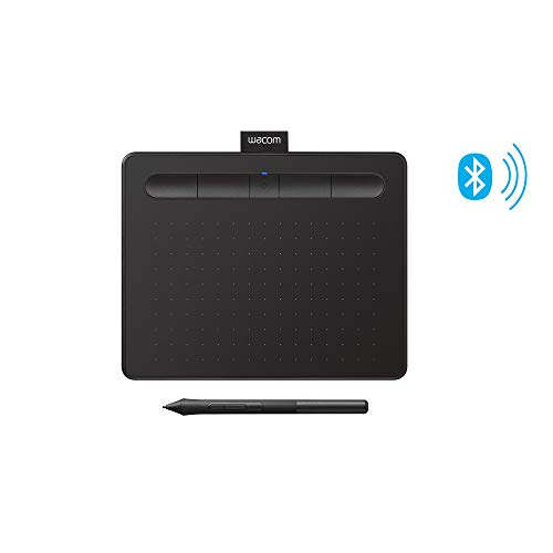Wacom Intuos Wireless Graphics Drawing Tablet with Bonus Software Included, 7.9' X 6.3', Black (CTL4100WLK0)