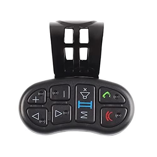YFTGD Korean Pine Controlador de Volante Universal Wireless Smart Car Rueda de dirección DVD GPS Botón de navegación Controlador