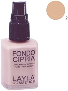 Layla Fondocipria Liquid Foundation, Peach - Beige