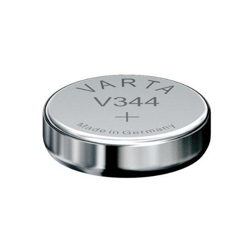 Varta batterie de Montre Type : V344 ,Voltage: 1.55V ,Taille: 3,6 mm ,Diamètre: 11,6 mm blister PDA point