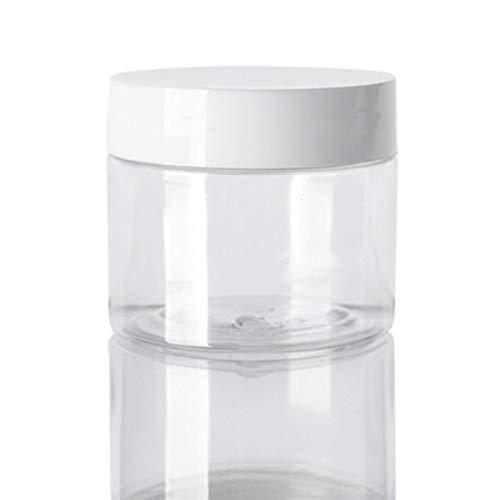 Botella de envase cosmético 5 / 10pcs 30ml / 40ml / 50ml / 60 ml / 80 ml Tarro de plástico transparente blanco y tapas vacías recipientes cosméticos Caja Botella de almacenamiento de viaje Maquillaje