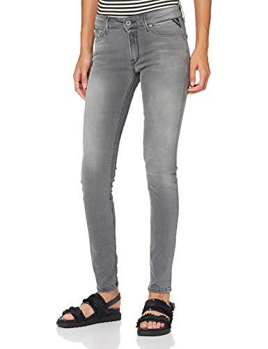 Replay Damen New Luz Jeans, Grau, 27W / 30L