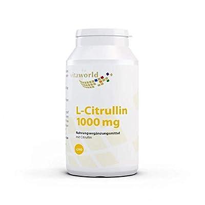 Vita World L-Citrulline 1000mg 240 Vegetarian Capsules Made in Germany
