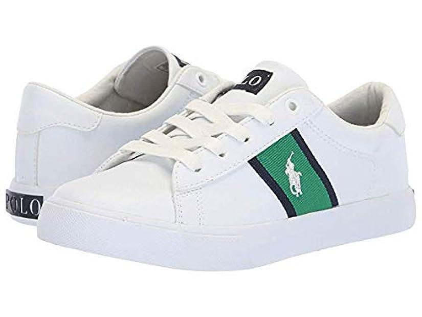 市民権疎外一人で[ポロラルフローレン] キッズカジュアルシューズ?靴 Geoff (Little Kid) White Tumbled/Green/Navy/White Pony 22cm M [並行輸入品]