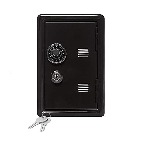 Caja Con Ilave Mini caja de dinero CUERDA COMPRESS COMPRESABILIDAD DIGITAL MONEDAS DE EFECTIVO DE EFECTO DE SEGURIDAD DE SEGURIDAD CAJA SEGURA Caja Fuerte Pequeña (Color : Black)