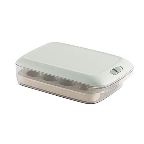 LOVIVER Caja de Frutas y Verduras Frescas, Recipiente de Almacenamiento de Alimentos, envases de plástico a Prueba de Fugas sin BPA, con Tapas para microondas - Verde
