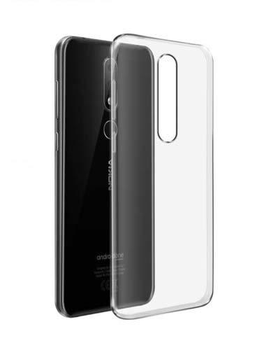 CaseRepublic Transparent Back Cover for Nokia 61 Plus Soft