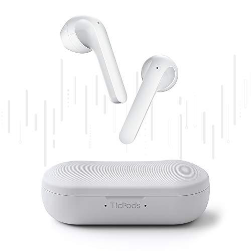 【第2世代】TicPods2ワイヤレスイヤホン超小型Bluetoothヘッドホン高音質【Bluetooth5.0/インイヤー検出/最大20時間音楽再生/音声対応/マイク内蔵/タッチ制御/ノイズキャンセリング/IPX4防水】ホワイト