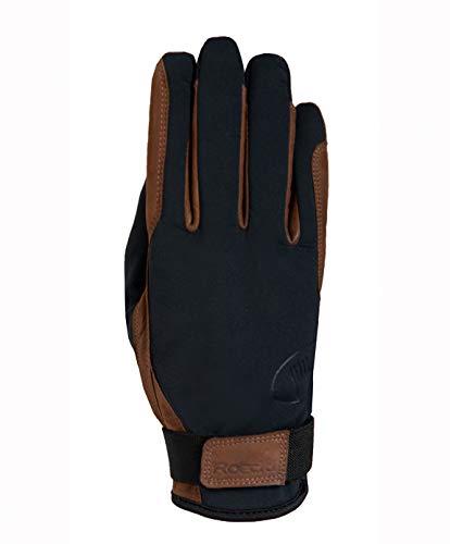 Roeckl Sports Fahrer Winter Handschuh -Fergus- Fahrhandschuh, Schwarz/Braun, 6,5