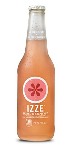 IZZE Sparkling Juice, Grapefruit, 12 Fl Oz (pack of 4) |