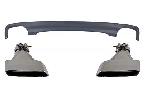 KITT CORDBMF10LCIDOEA Auspuff-Endschalldämpfer für Standard-Heckstoßstange, Doppelauslass, quadratisches Design