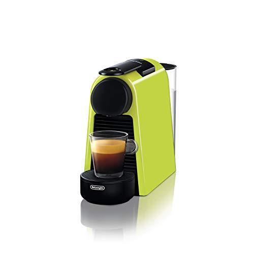 De\' Longhi EN 85.L Macchine del caffè Essenza Mini Nespresso, 1370 W, 1 Cups, Plastica, Lime