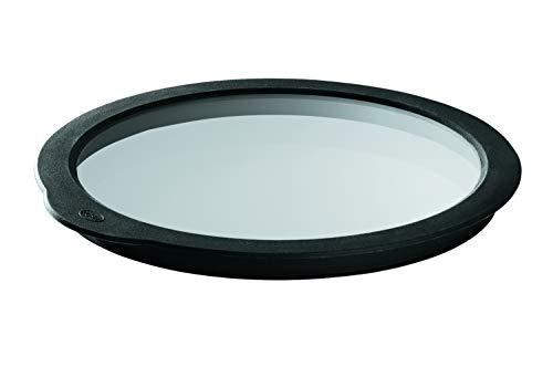 RÖSLE Frischhaltedeckel Ø 16 cm, Glas mit rundumlaufenden Silikonrand, spülmaschinengeeignet