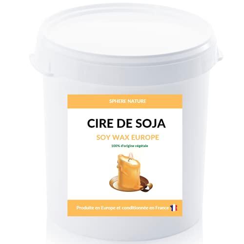 Cubo de cera de soja en virutas para fabricación de velas | 500 g | 100 % natural y biodegradable | Sin OGM | Original Europa envasada en Francia | Velas perfumadas para masaje | Idea de regalo
