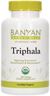 Banyan Botanicals Triphala Tablets - Organic Triphala Supplement with Amla, Haritaki & Bibhitaki – for Daily Detoxifying, Cleansing, & Rejuvenating* – 90 Tablets – Non-GMO Sustainably Sourced Vegan