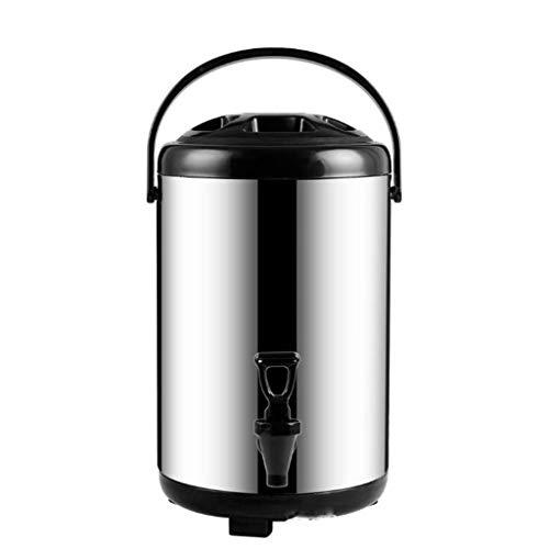 WWWANG Artículos for el hogar barril de té de la leche de soja barril barril desayuno de leche comercial de acero inoxidable de doble cilindro de aislamiento de espuma de aislamiento barril Al