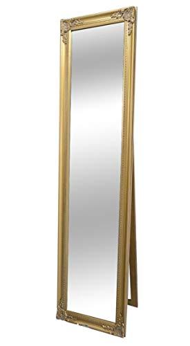 Livitat® Ankleidespiegel Standspiegel Wandspiegel antik barock Gold 160 x 40 cm NO LV9038