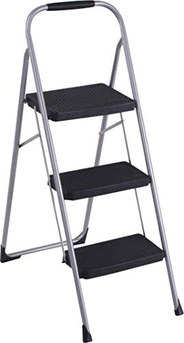 Cosco 11408PBL1E Three Big Folding Step Stool with...