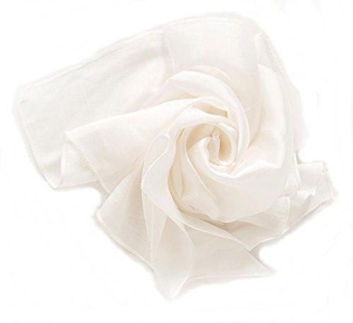 YSS Nickituch/Seidentuch 1 A Qualität unifarben Made in Thailand (Weiß)