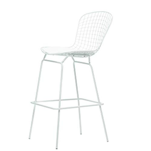 Barkruk LHY stoel draad rugleuning hoge kruk personaliteit smeedijzer koffiezetapparaat stoel platte verpakking