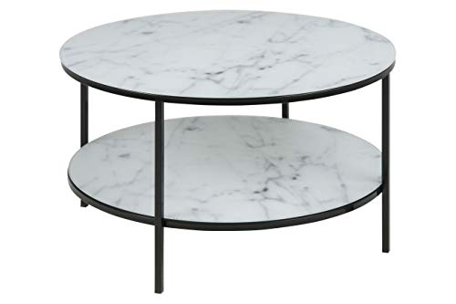 Amazon Brand - Movian Rom - Mesa de centro, 80 x 80 x 45 cm (largo x ancho x alto), blanco