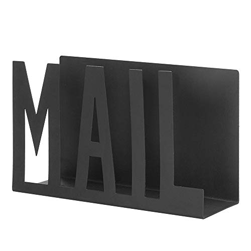 NACTECH 2.3' Width Desktop Mail Holder Metal Letter Sorter Desk File Holder Mail Organizer Keep Neat for Mail Letter Bill Filing Paper Document Postcards Books