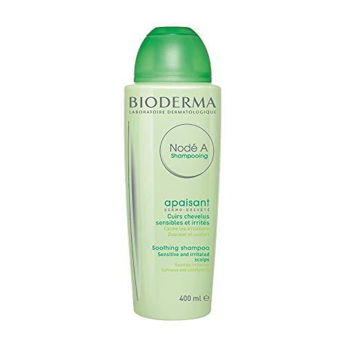 BIODERMA NODÉ A Shampooing apaisant 400ml   Nettoie en douceur – Apaise les irritations et démangeaisons   Cuir chevelu sensible et irrité