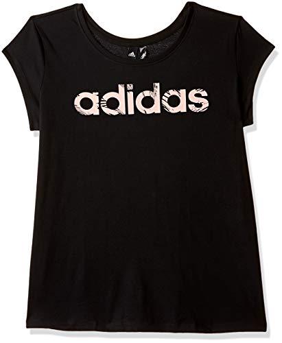 adidas Damen Kurzarm T-Shirt Commercial, Black/Haze Coral, M, CZ2273