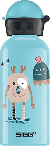 SIGG Monster Friends Borraccia bambini (0.4 L), Borraccia alluminio con chiusura ermetica e priva di sostanze nocive, Borraccia bimbi super leggera in alluminio