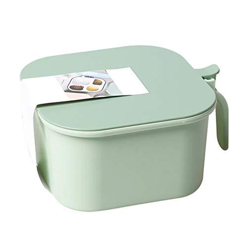 Salz- und Pfefferstreuer Gewürzbox Kunststoff Camping Gewürzbox für Aufbewahrung Küche Gewürze, Gewürzbox Multifunktionaler 4-Fächer-Aufbewahrungsbehälter für Gewürze