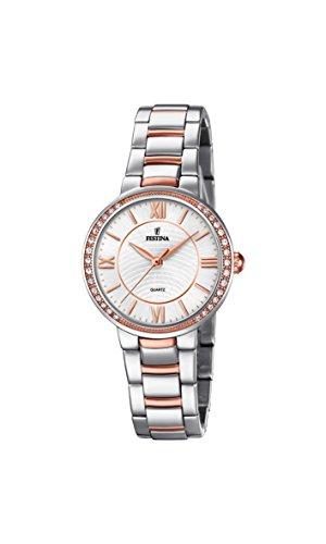 Festina Reloj Análogo clásico para Mujer de Cuarzo con Correa en Acero Inoxidable F20221/1