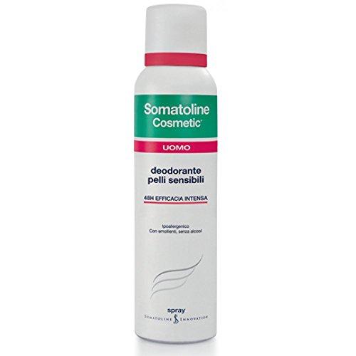 Somatoline deodorante uomo spray per pelli sensibili, 150ml