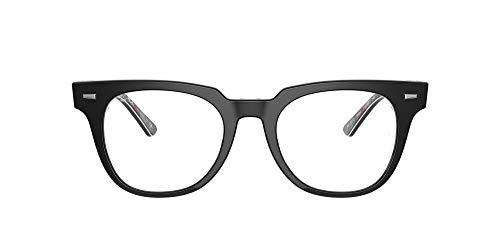 Ray-Ban VISTA 0RX5377 Gafas, Negro sobre Chevron Gris/Borgoña, 50 Unisex Adulto