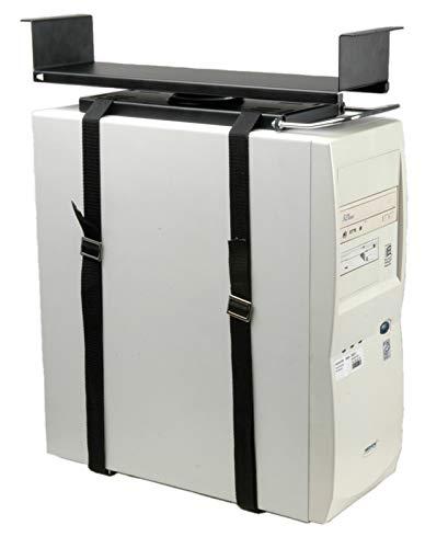 ROLINE PC Halterung Universal | Untertisch Befestigung | Computer Tischhalterung | Schwarz