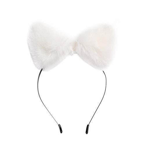 YEBIRAL Katzenohren Haarreif Damen Haarreifen Mit Ohren Stirnbänder Fuchs-Ohr Form Haarschmuck Haarband für Geburtstag Halloween Kostüm Party Cosplay