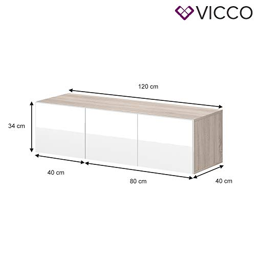 Wohnwand – Vicco TV Board Cumulus hängend Bild 2*