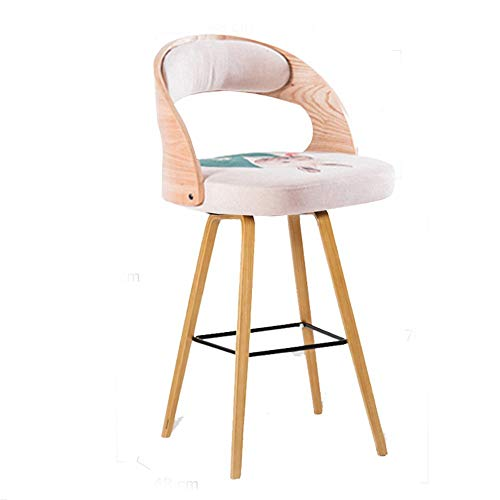 ZZP Chairs Modern Furniture Solid Wood Bar Retro Low Back with Cushions Many Kinds of Colors),Una ropa)